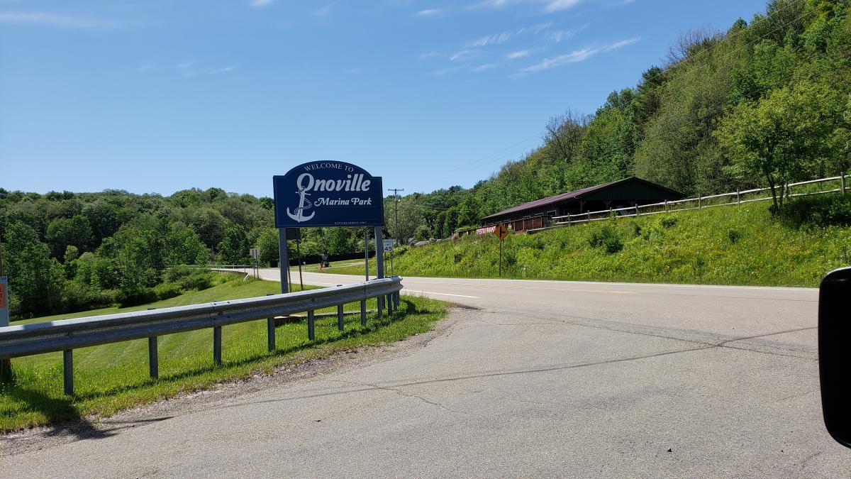 New Onoville Marina Park Sign